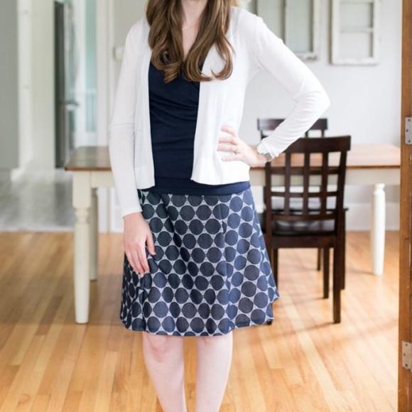 Renee C. Dresses & Skirts - Renee C Lace Detail Flouncy Dot Skirt in Large